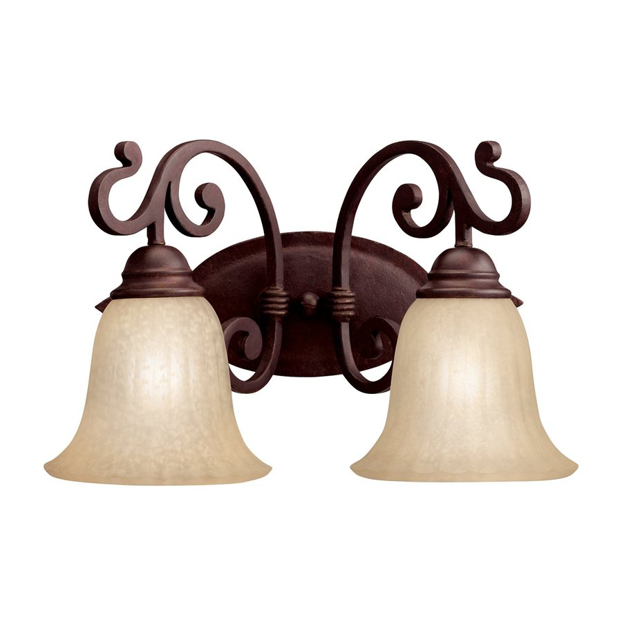 Kichler Lighting Wilton 2-Light 10.25-in Carre Bronze Bell Vanity Light