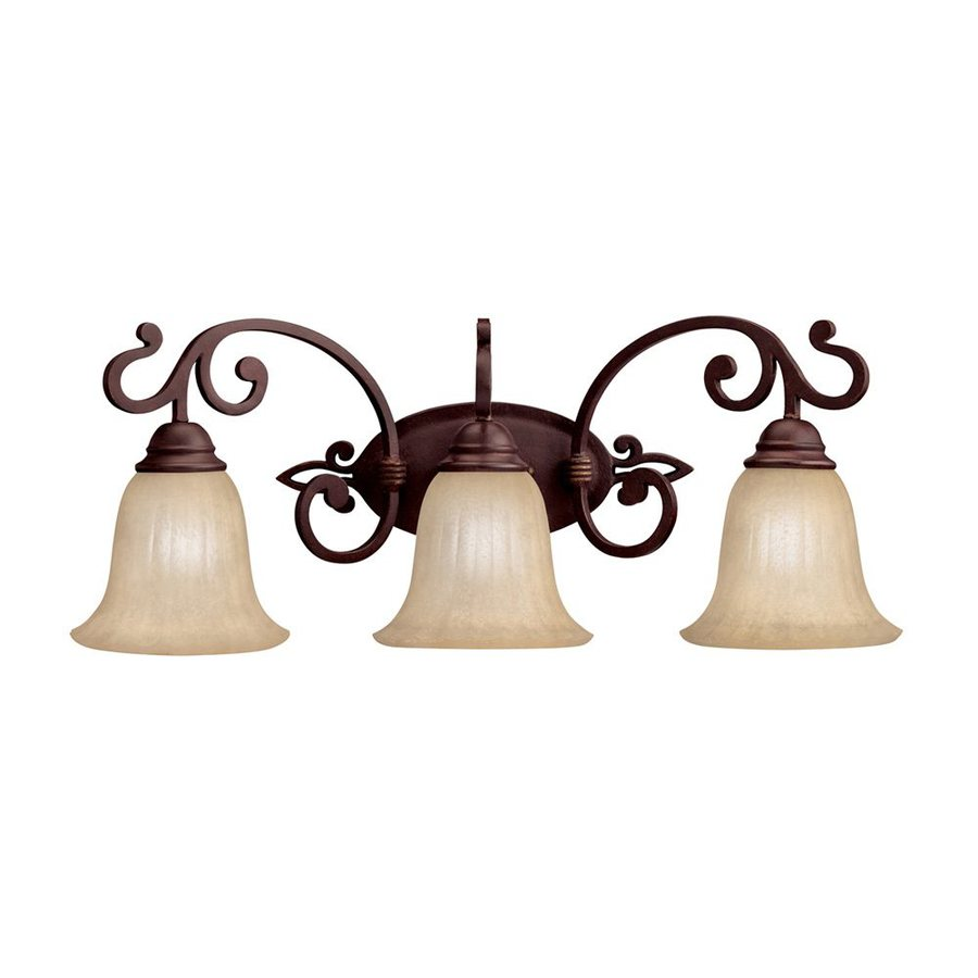 Kichler Wilton 3-Light 10.25-in Carre Bronze Bell Vanity Light