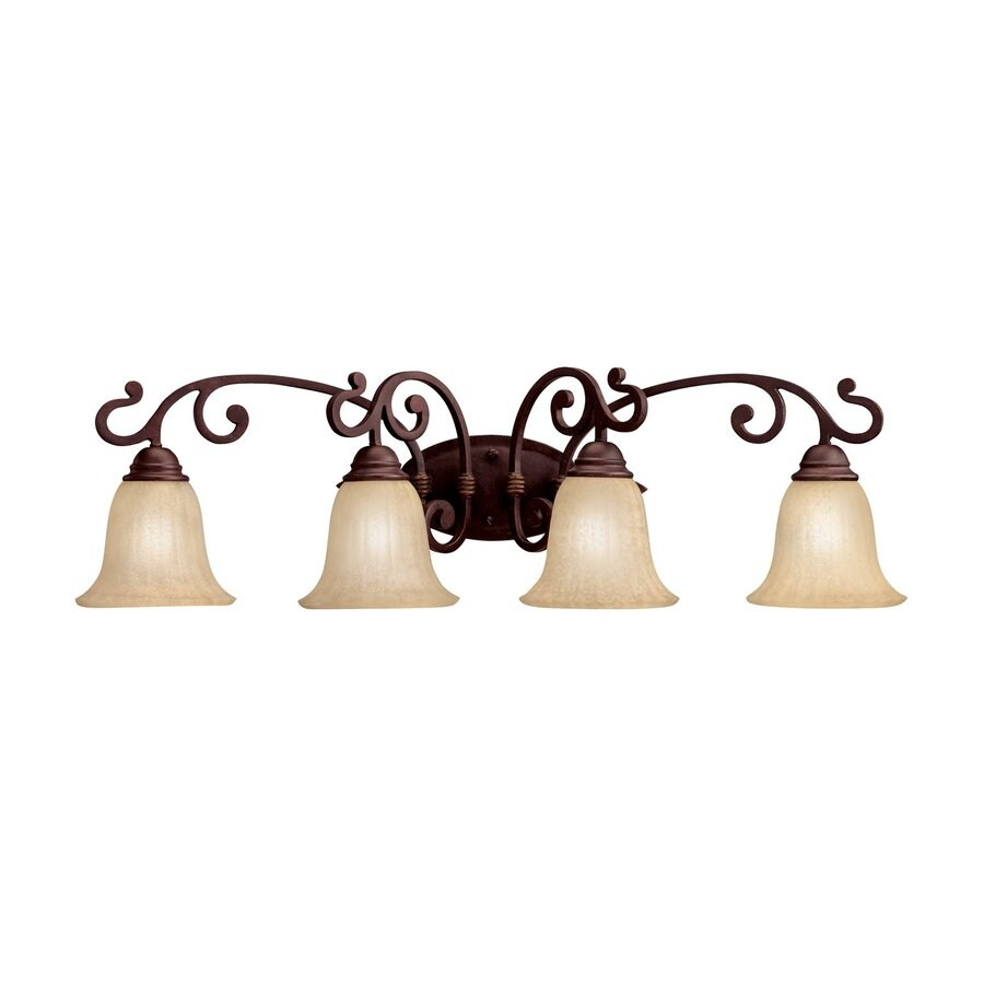 Kichler Wilton 4-Light 10.25-in Carre Bronze Bell Vanity Light