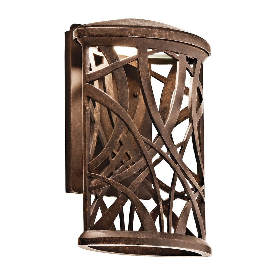 Kichler Maya Palm 13.25-in H Olde Bronze Dark Sky LED Outdoor Wall Light
