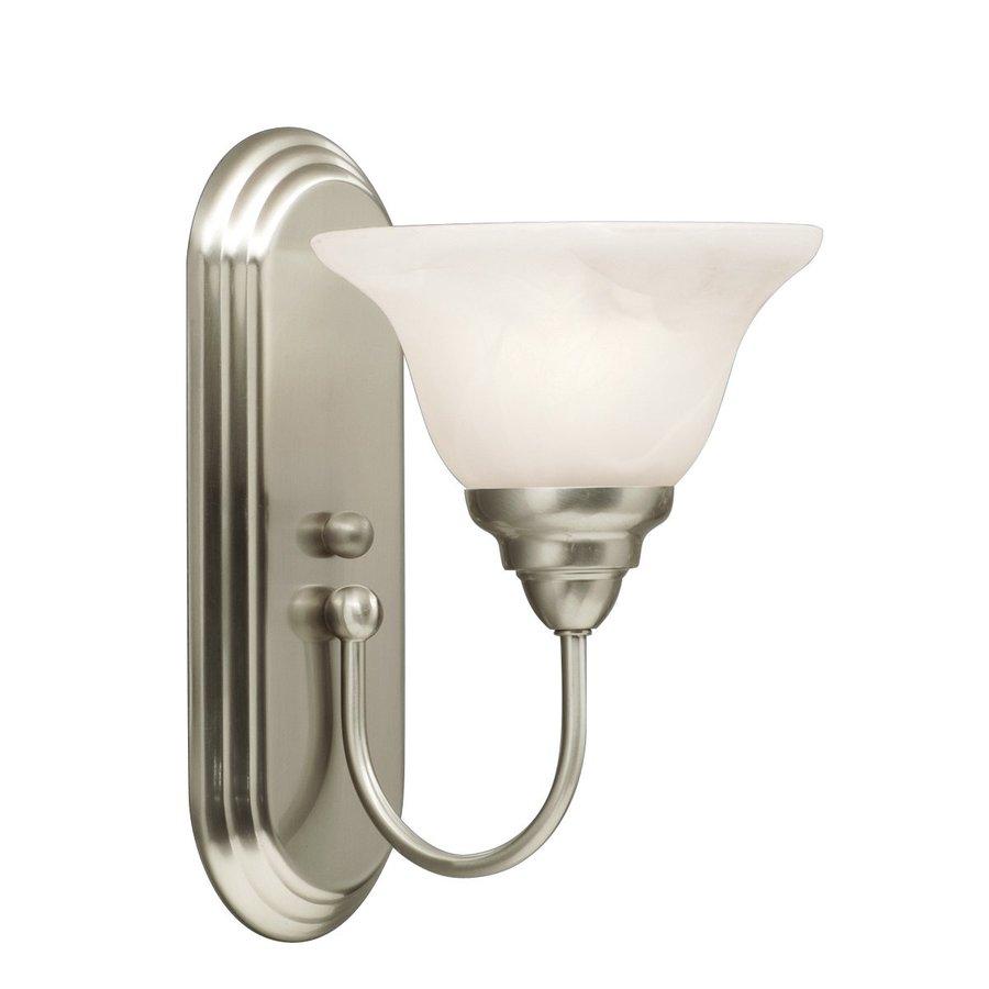 Kichler Lighting Telford 1-Light 12-in Brushed Nickel Bell Vanity Light