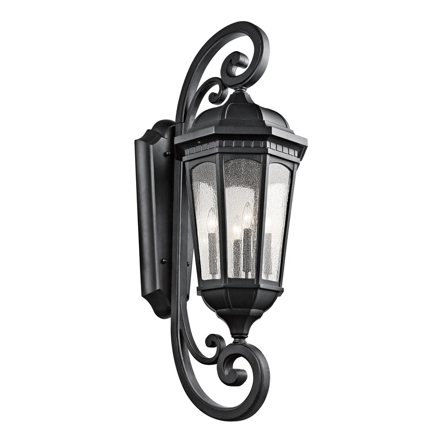 Kichler Lighting Courtyard 46.75-in H Textured Black Outdoor Wall Light