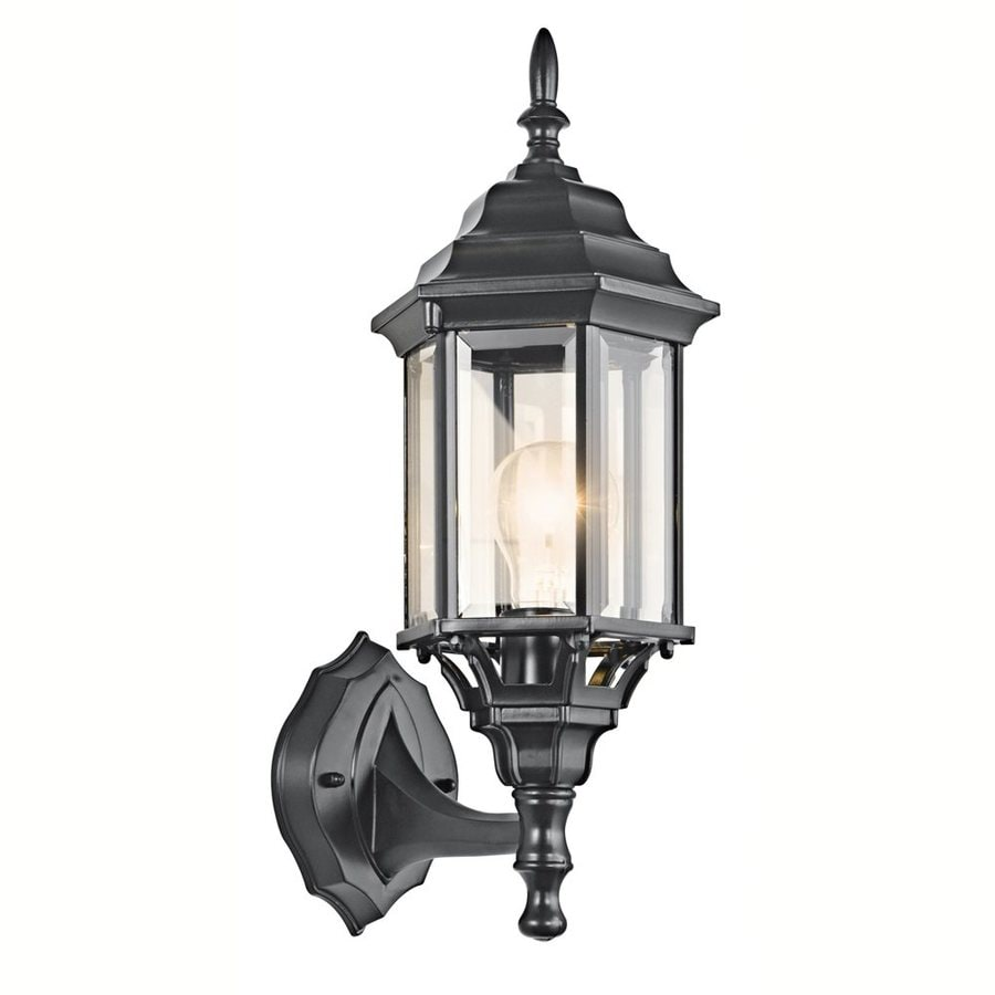 Kichler Chesapeake 17-in H Black Outdoor Wall Light