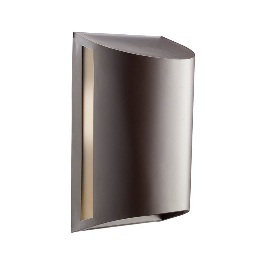 Shop Kichler 12 In H Architectural Bronze Dark Sky Outdoor Wall Light At Lowe