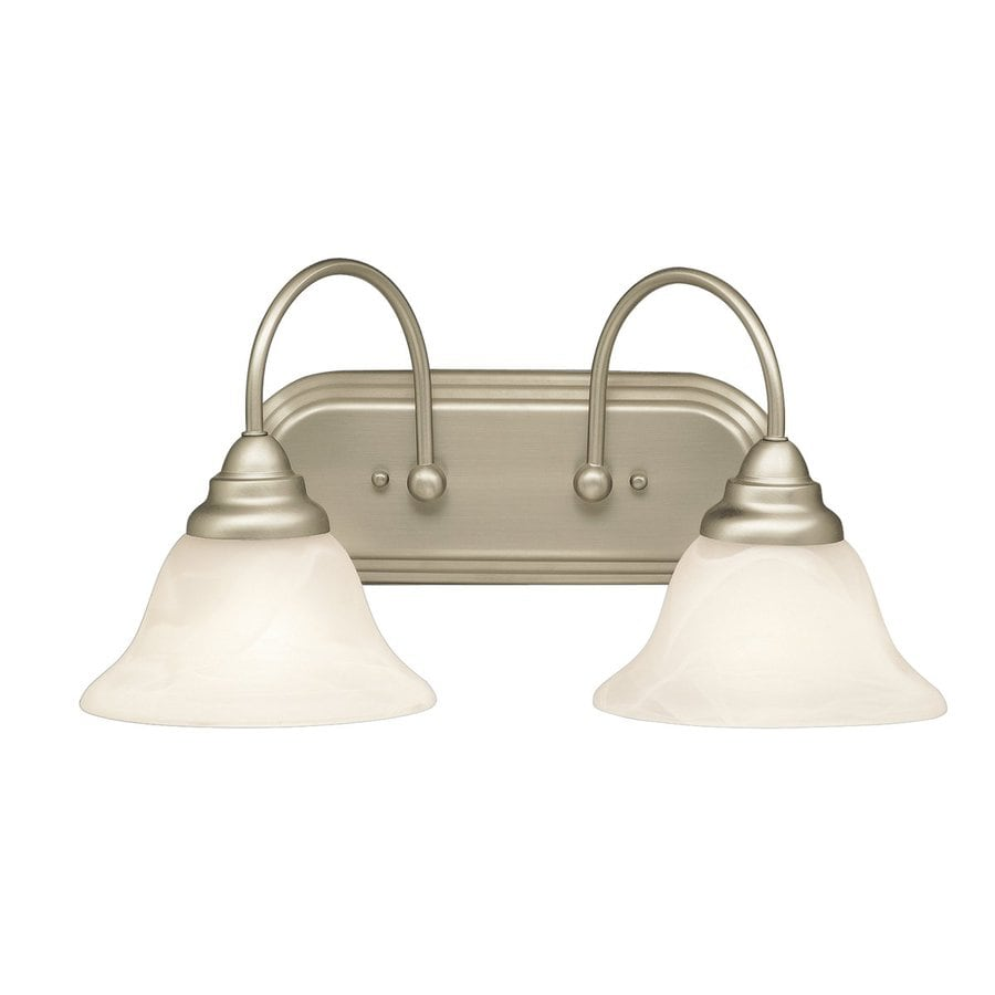 Shop Kichler Telford 2-Light 9-in Brushed Nickel Bell Vanity Light at Lowes.com