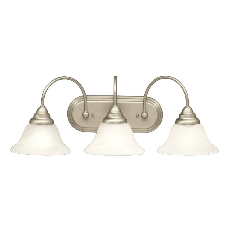 Kichler Telford 3-Light 9-in Brushed Nickel Bell Vanity Light