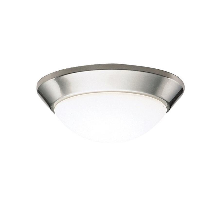 Kichler Ceiling Space Brushed Nickel Flush Mount Fluorescent Light (Common: 1-ft; Actual: 10-in)
