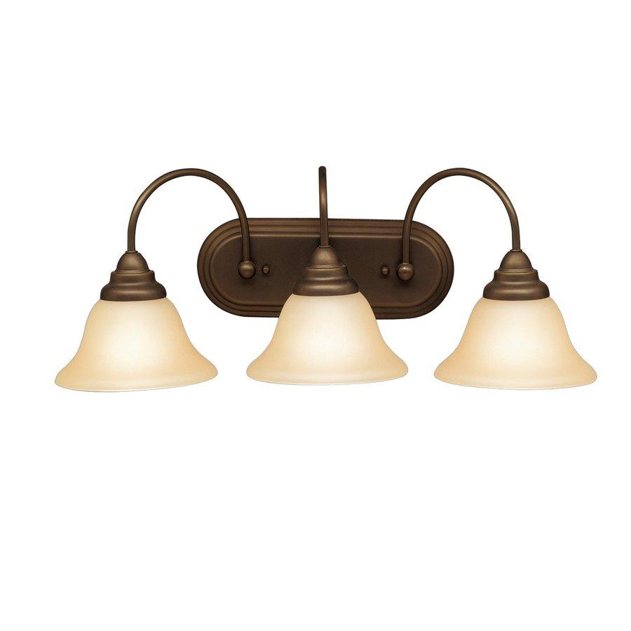 Kichler Telford 3-Light 9-in Olde Bronze Bell Vanity Light