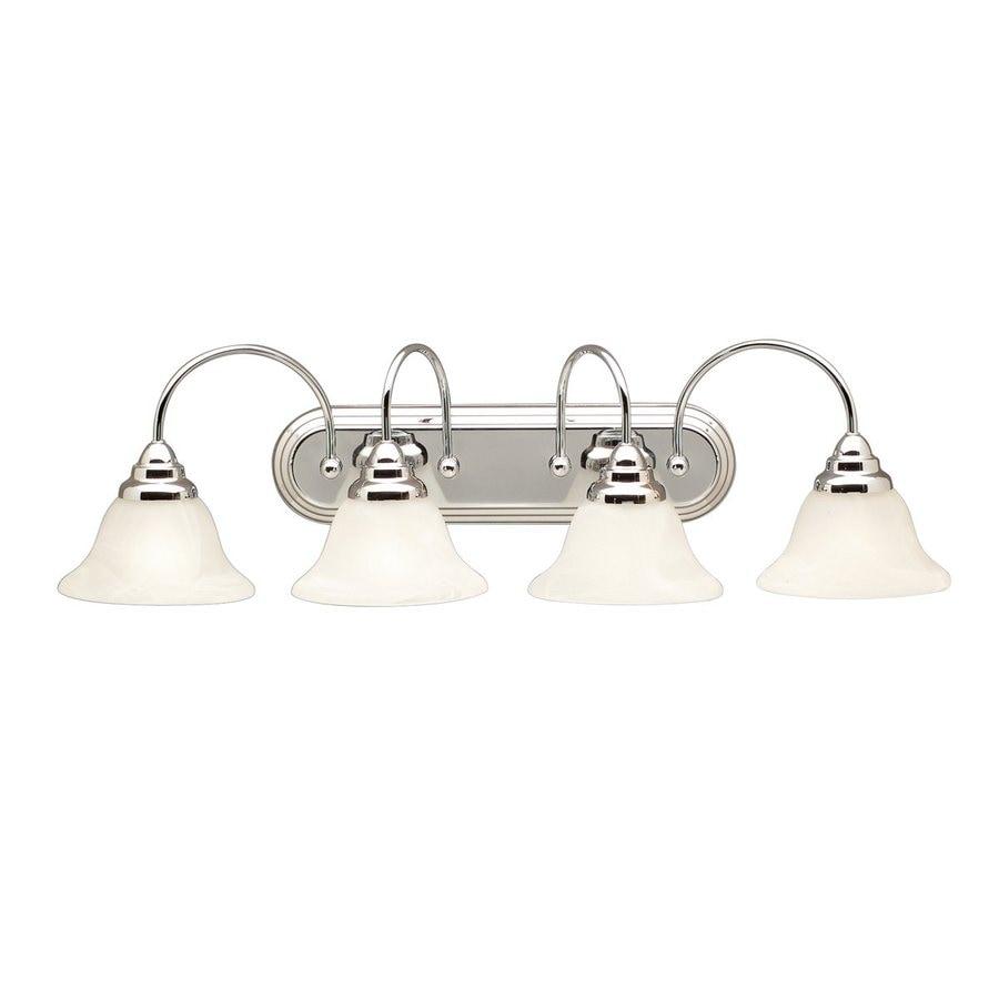 Kichler Telford 4-Light 9-in Chrome Bell Vanity Light
