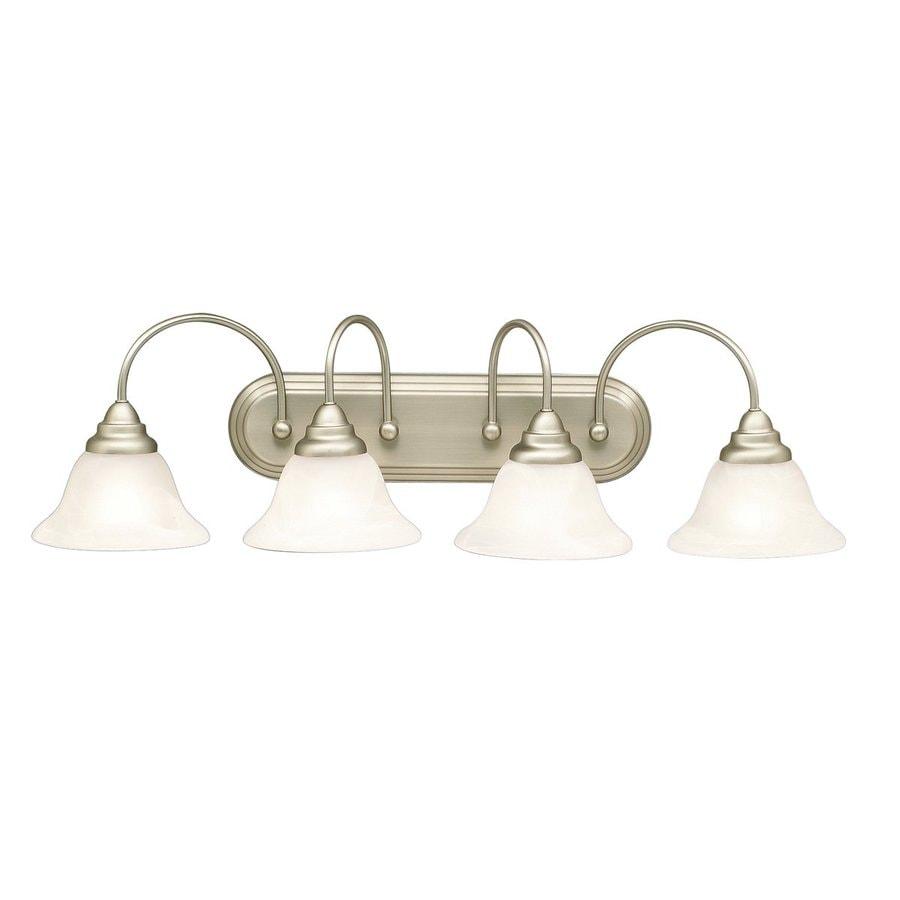 Kichler Telford 4-Light 9-in Brushed Nickel Bell Vanity Light