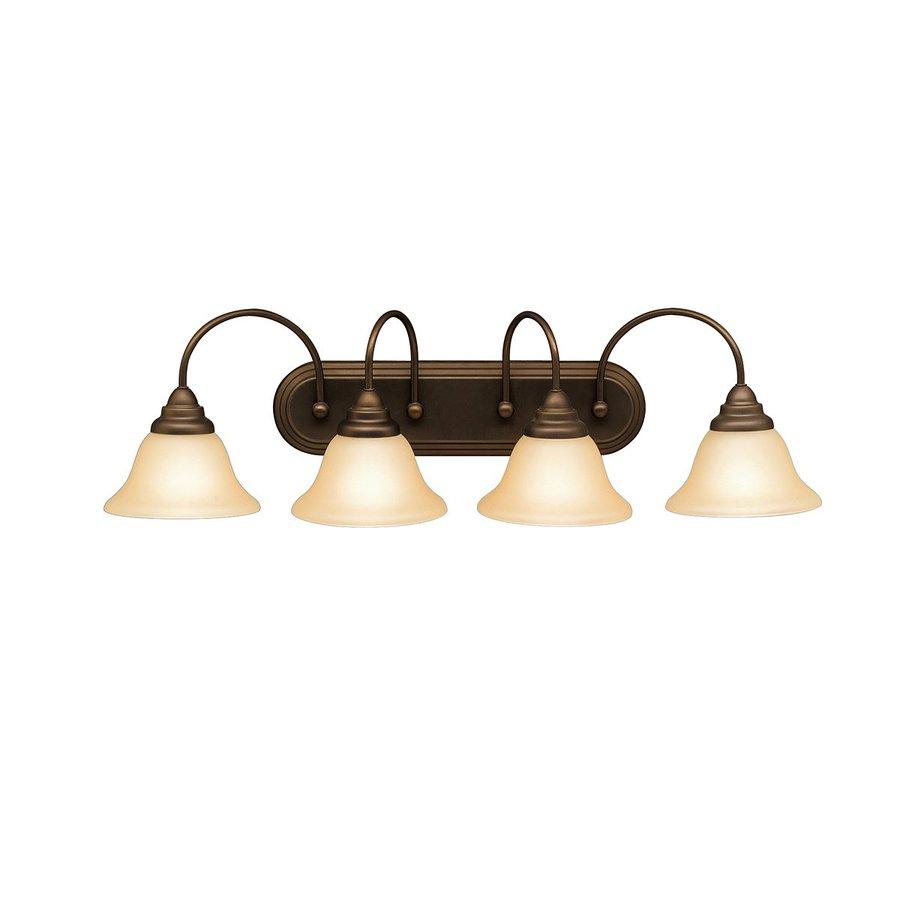 Kichler Telford 4-Light 9-in Olde Bronze Bell Vanity Light