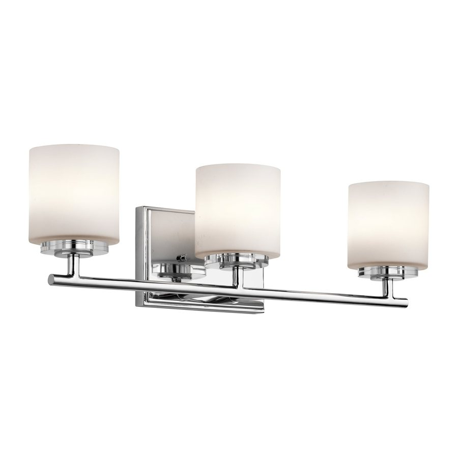 Kichler O Hara 3-Light 6.25-in Chrome Cylinder Vanity Light