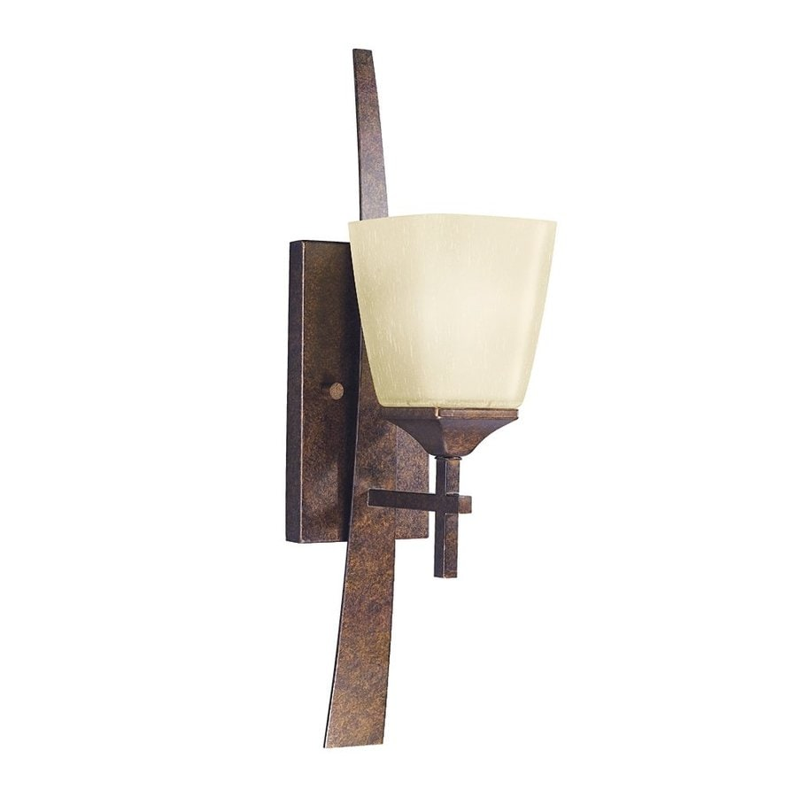 Kichler Lighting Souldern 1-Light 20.25-in Marbled Bronze Bell Vanity Light