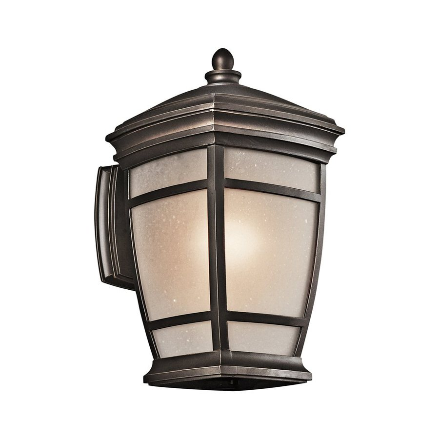 Kichler Mcadams 14-in H Rubbed Bronze Outdoor Wall Light