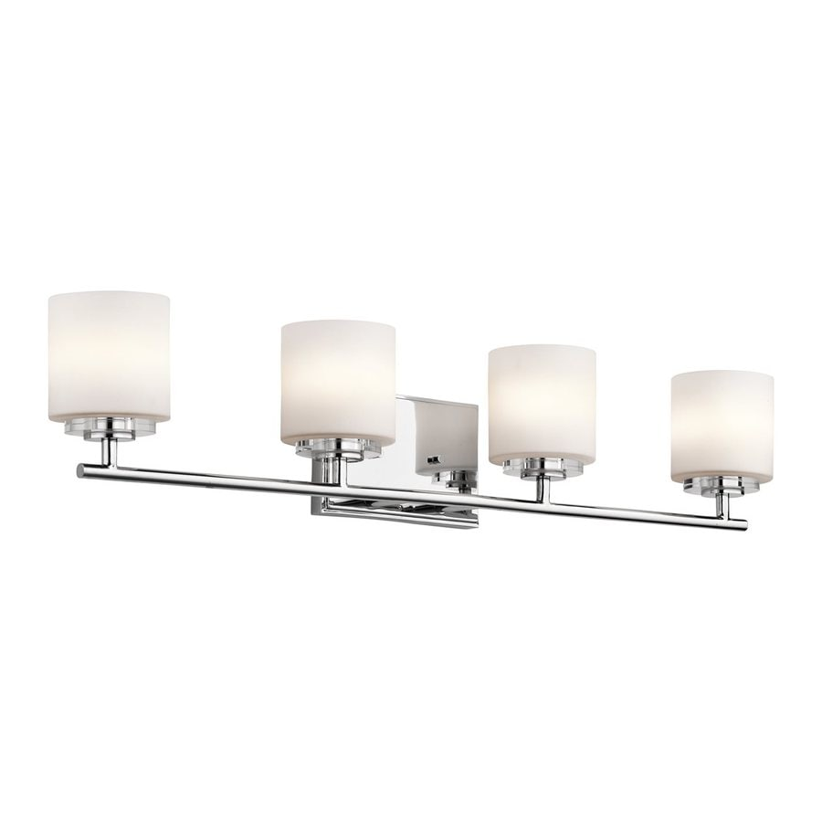 Shop Kichler O Hara 4 Light 31 In Chrome Cylinder Vanity