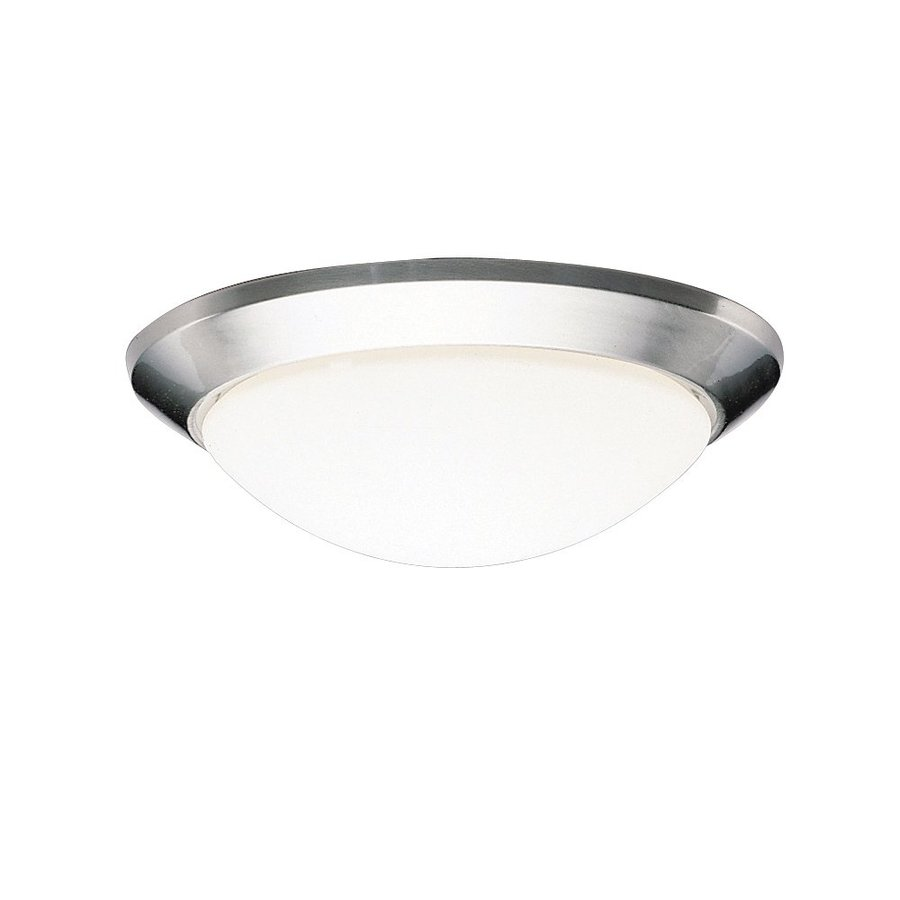 Kichler Lighting Ceiling Space Brushed Nickel Flush Mount Fluorescent Light (Common: 1-ft; Actual: 14-in)