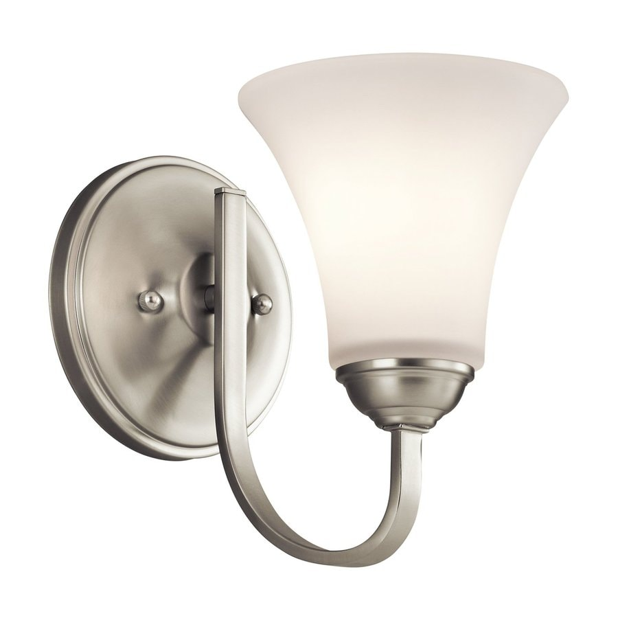 Kichler Keiran 1-Light 8.5-in Brushed Nickel Bell Vanity Light
