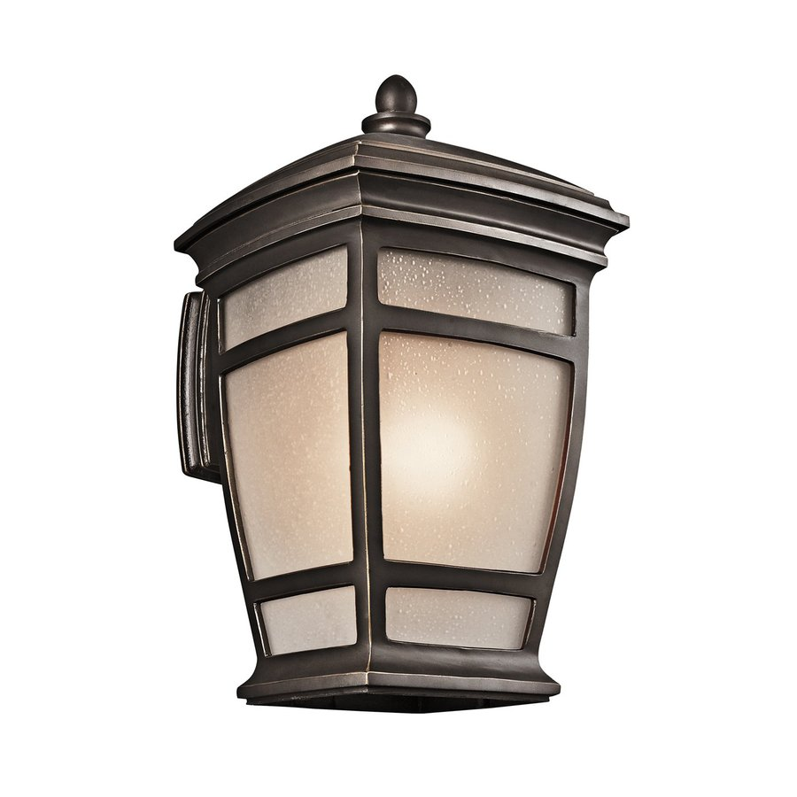 Shop Kichler Mcadams 21 In H Rubbed Bronze Outdoor Wall Light At