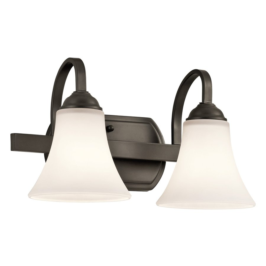 Kichler Lighting Keiran 2-Light 8.25-in Olde Bronze Bell Vanity Light