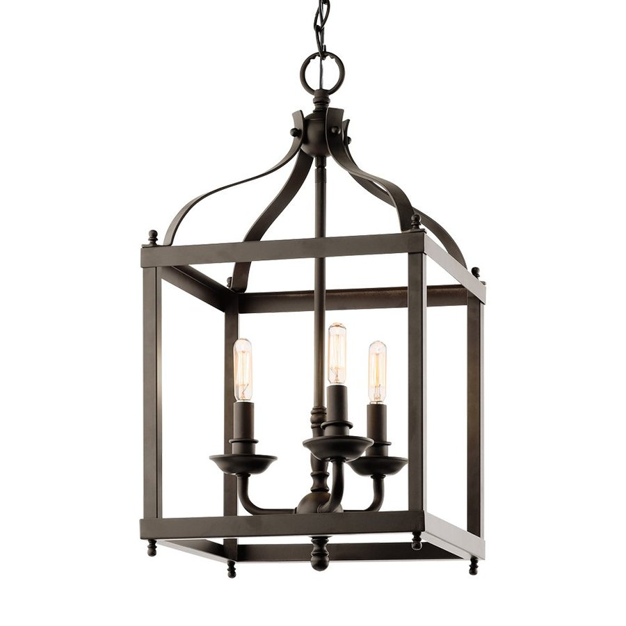 Kichler Larkin 12-in Olde Bronze Vintage Single Cage Pendant