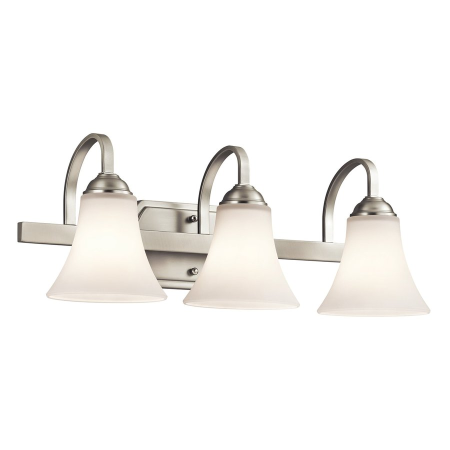 Kichler Keiran 3-Light 8.25-in Brushed nickel Bell Vanity Light