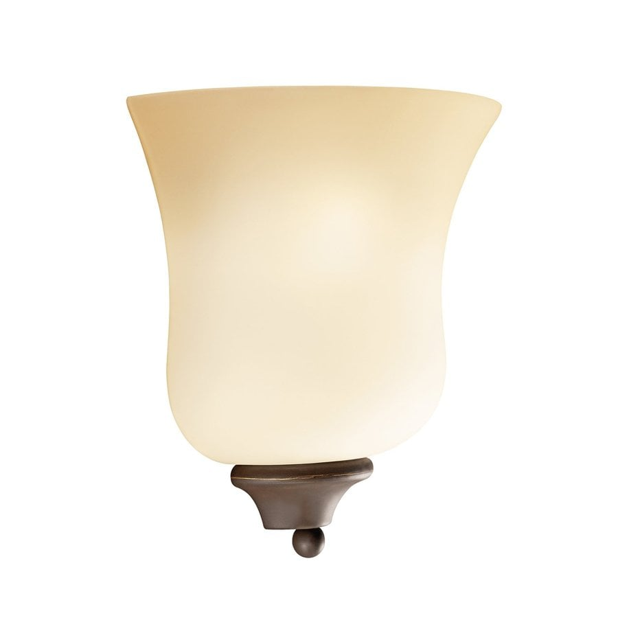 Kichler Wedgeport 1-Light 8.25-in Olde Bronze Bell Vanity Light
