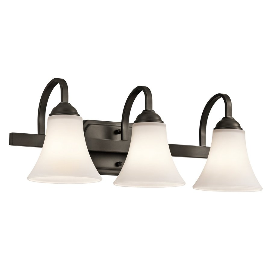 Kichler Keiran 3-Light 8.25-in Olde bronze Bell Vanity Light
