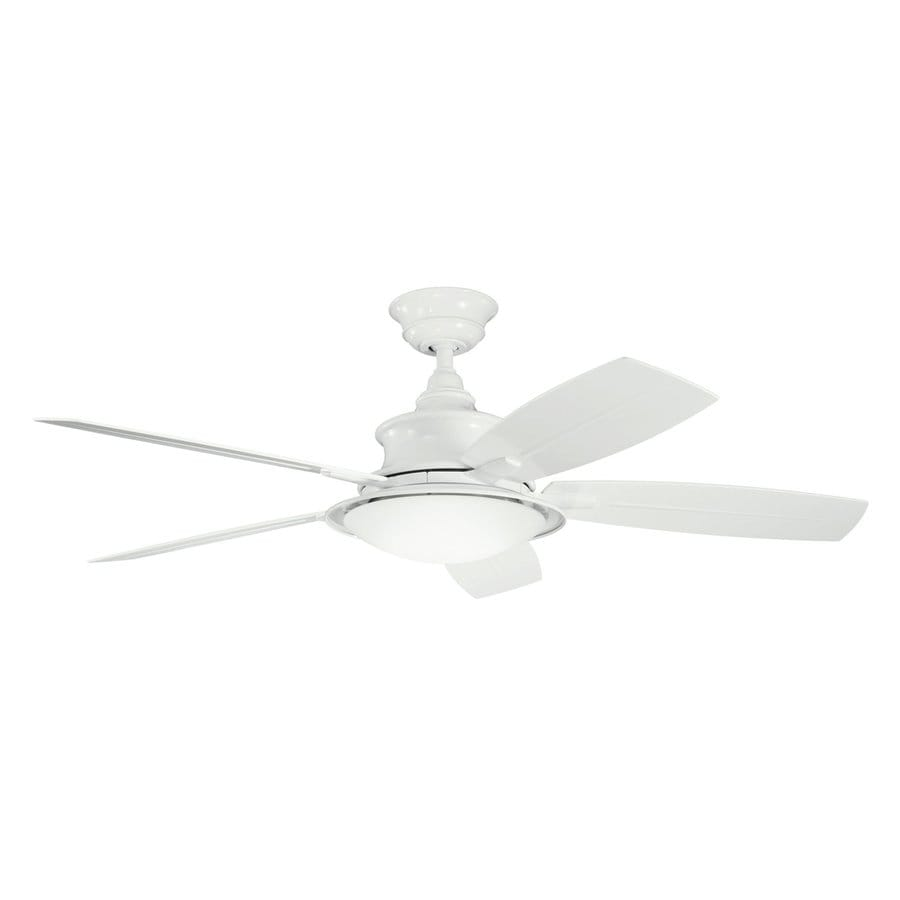 Shop Kichler Cameron 52 In White Standard Indoor Outdoor