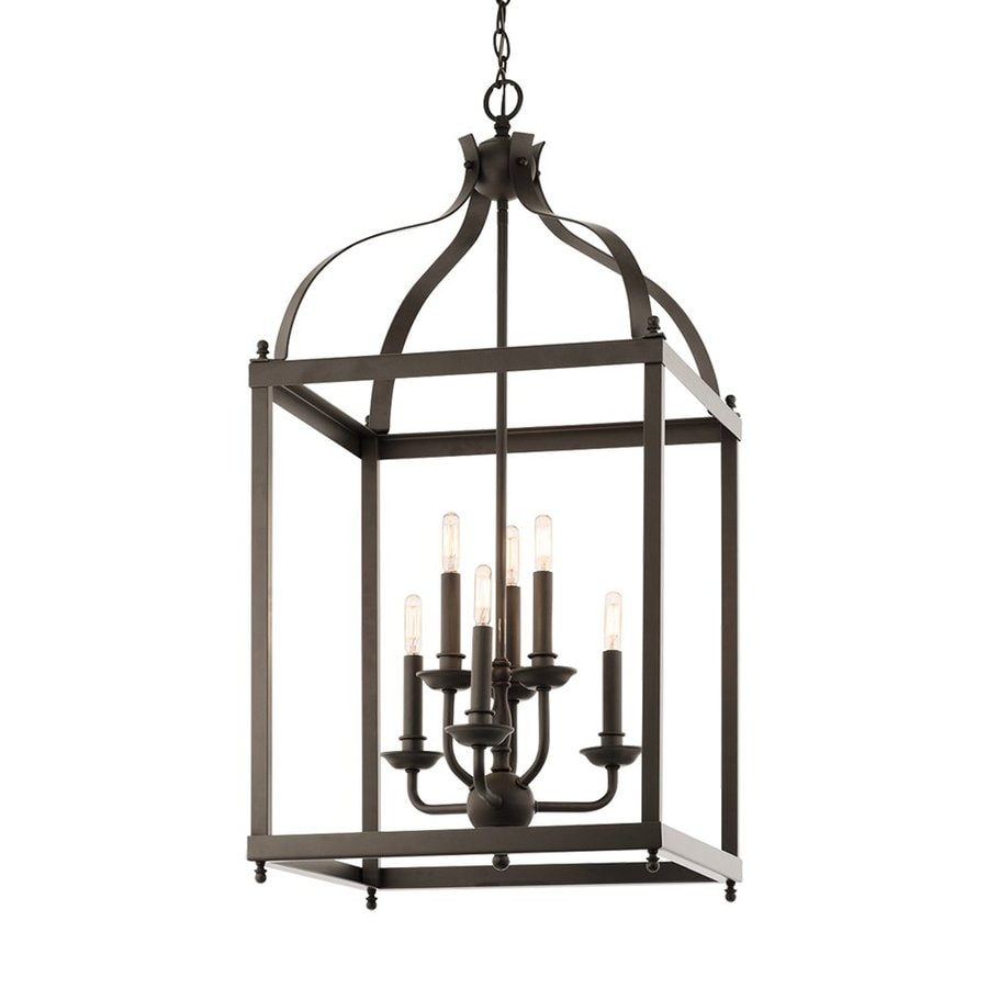 Kichler Lighting Larkin 18-in Olde Bronze Vintage Hardwired Single Cage Pendant