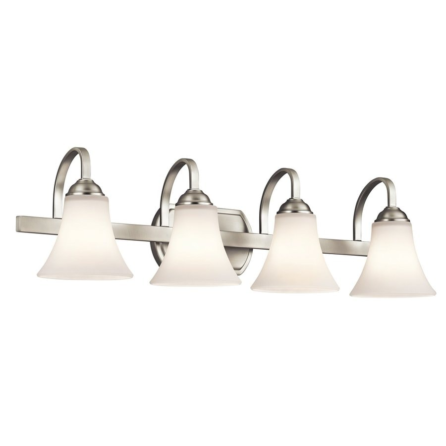 Kichler Lighting Keiran 4-Light 8.25-in Brushed Nickel Bell Vanity Light