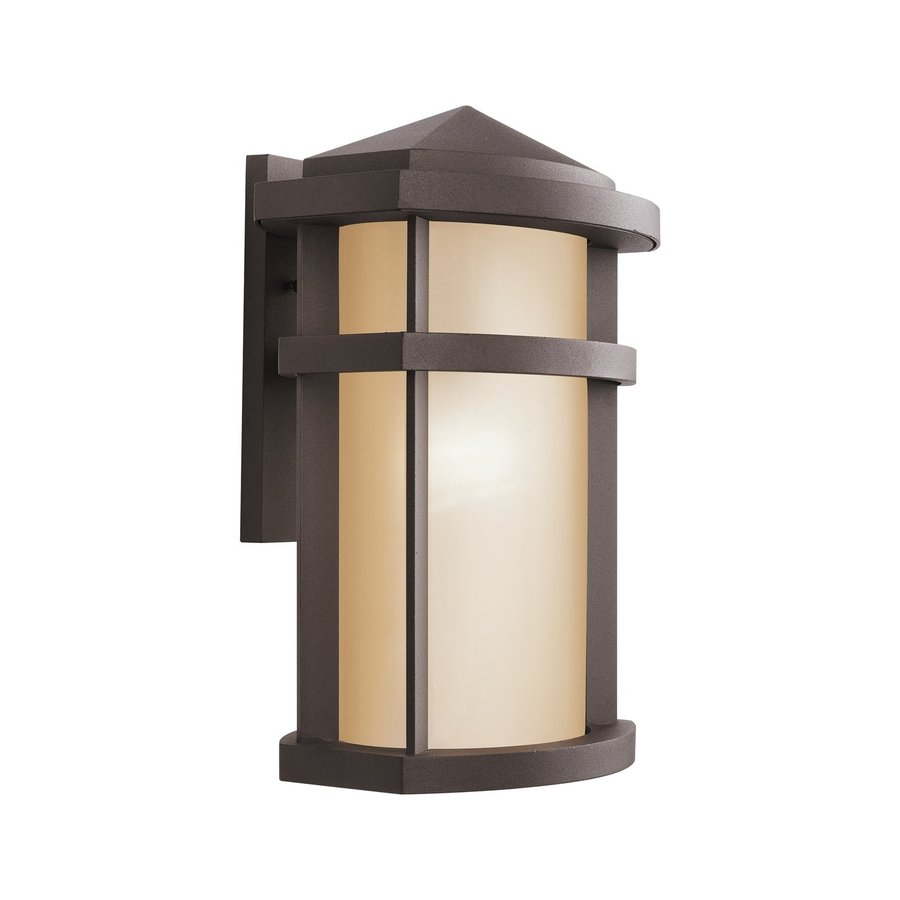 Kichler Lantana 15.25-in H Architectural Bronze Outdoor Wall Light