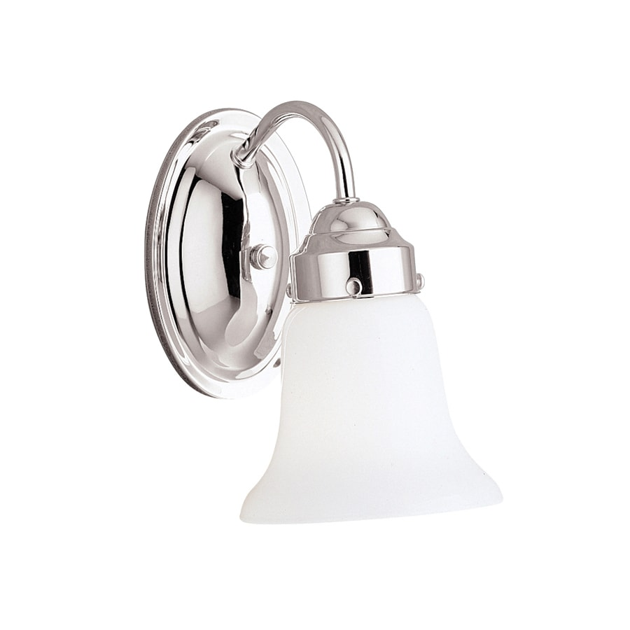 Kichler Lighting Curves 1-Light 8.75-in Chrome Bell Vanity Light