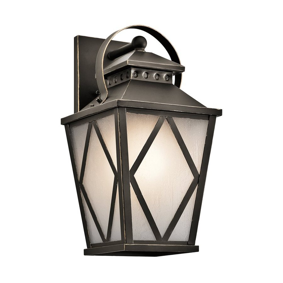 Kichler Hayman Bay 17-in H Olde Bronze Outdoor Wall Light