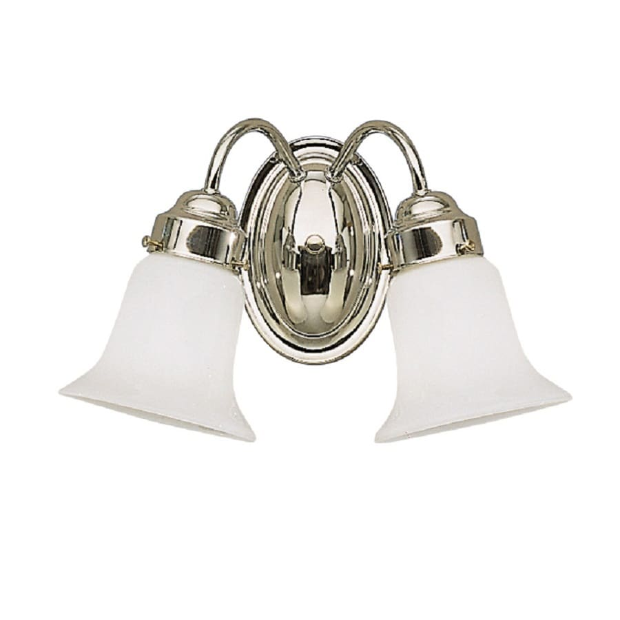 Kichler Lighting Curves 2-Light 8.5-in Chrome Bell Vanity Light