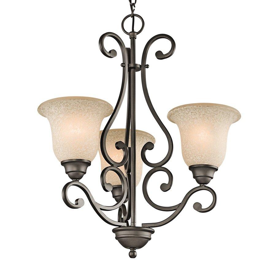 Kichler Lighting Camerena 20-in 3-Light Olde Bronze Mediterranean Shaded Chandelier