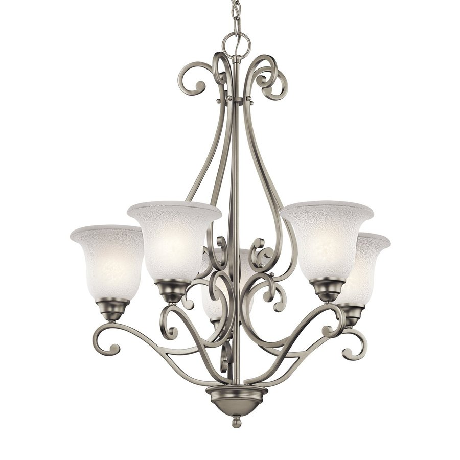Shop Kichler Camerena 27 In 5 Light Brushed Nickel Vintage