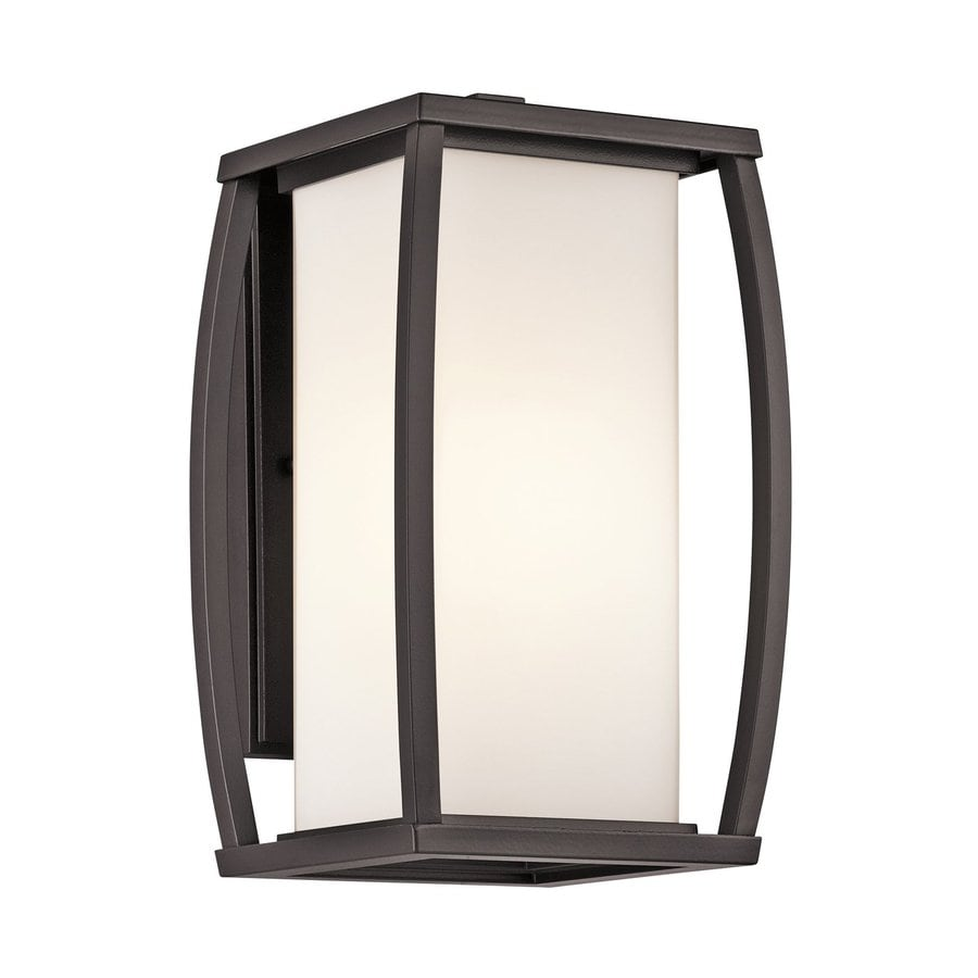 Kichler Bowen 13-in H Architectural Bronze Outdoor Wall Light