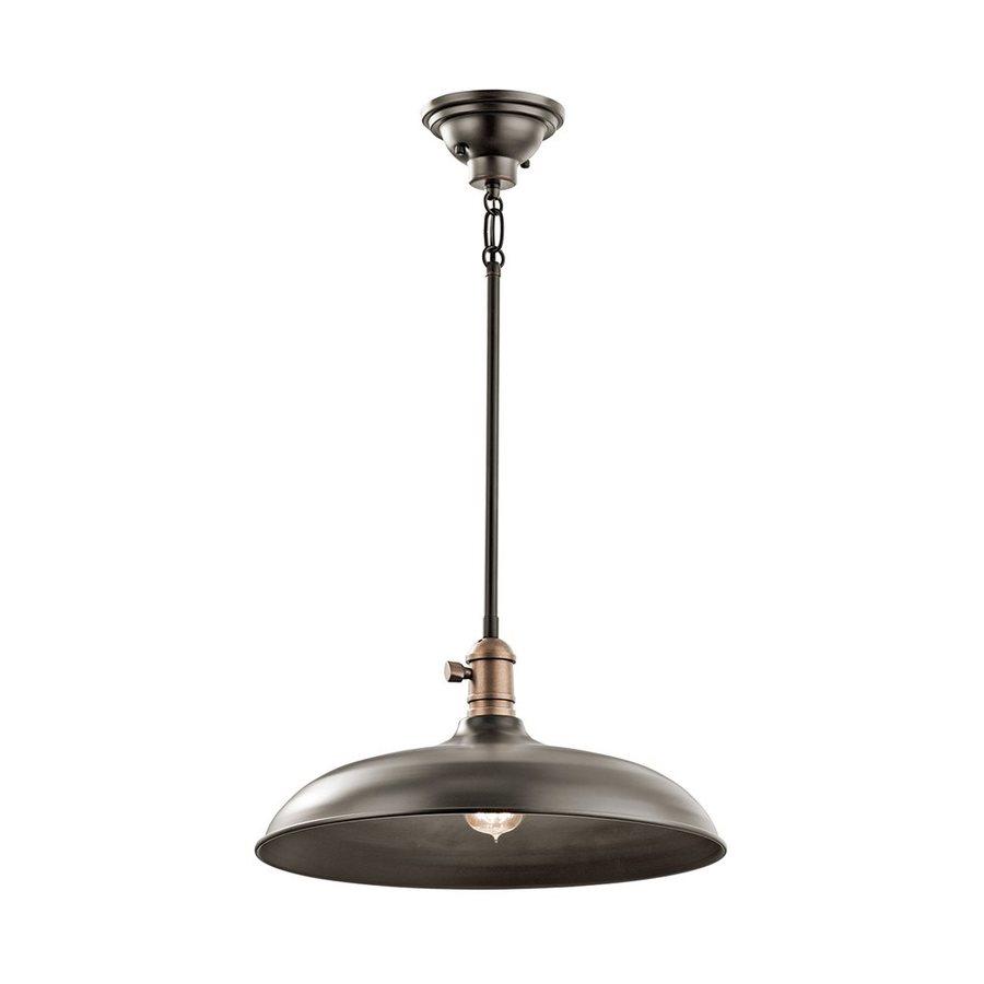 Kichler Lighting Cobson 16-in Olde Bronze Industrial Single Warehouse Pendant
