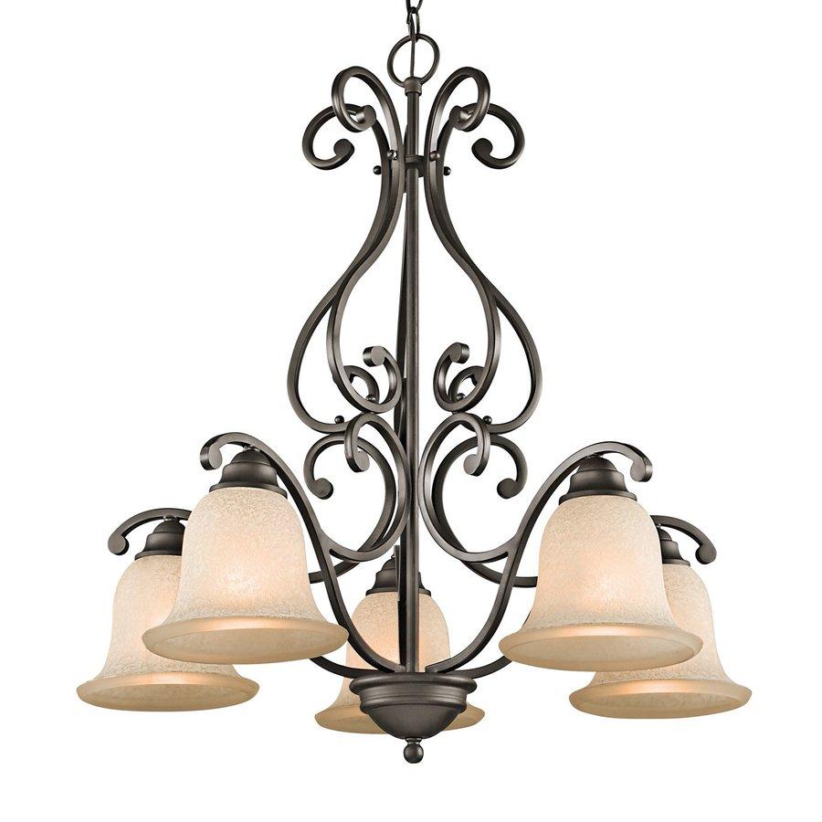 Kichler Camerena 27-in 5-Light Olde Bronze Mediterranean Shaded Chandelier