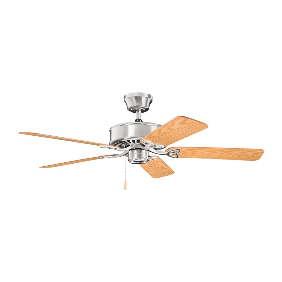 Kichler Renew ES 50-in Brushed stainless steel Indoor Downrod Or Close Mount Ceiling Fan