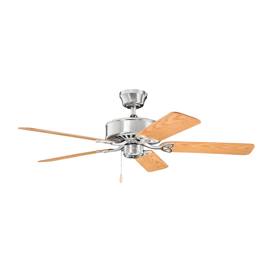 Kichler Lighting Renew Es 50-in Brushed Stainless Steel Downrod or Close Mount Indoor Ceiling Fan (5-Blade) ENERGY STAR