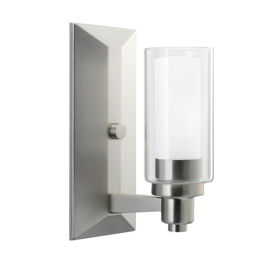 Kichler Circolo 1-Light 10-in Brushed Nickel Cylinder Vanity Light
