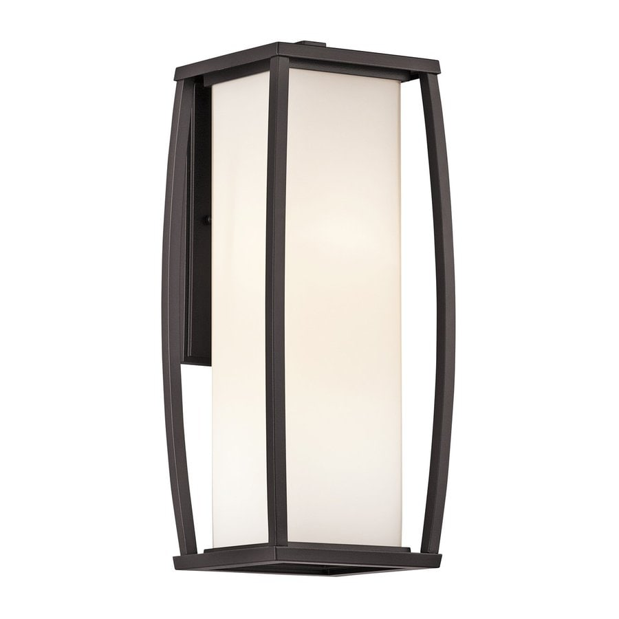 Kichler Lighting Bowen 18-in H Architectural Bronze Outdoor Wall Light