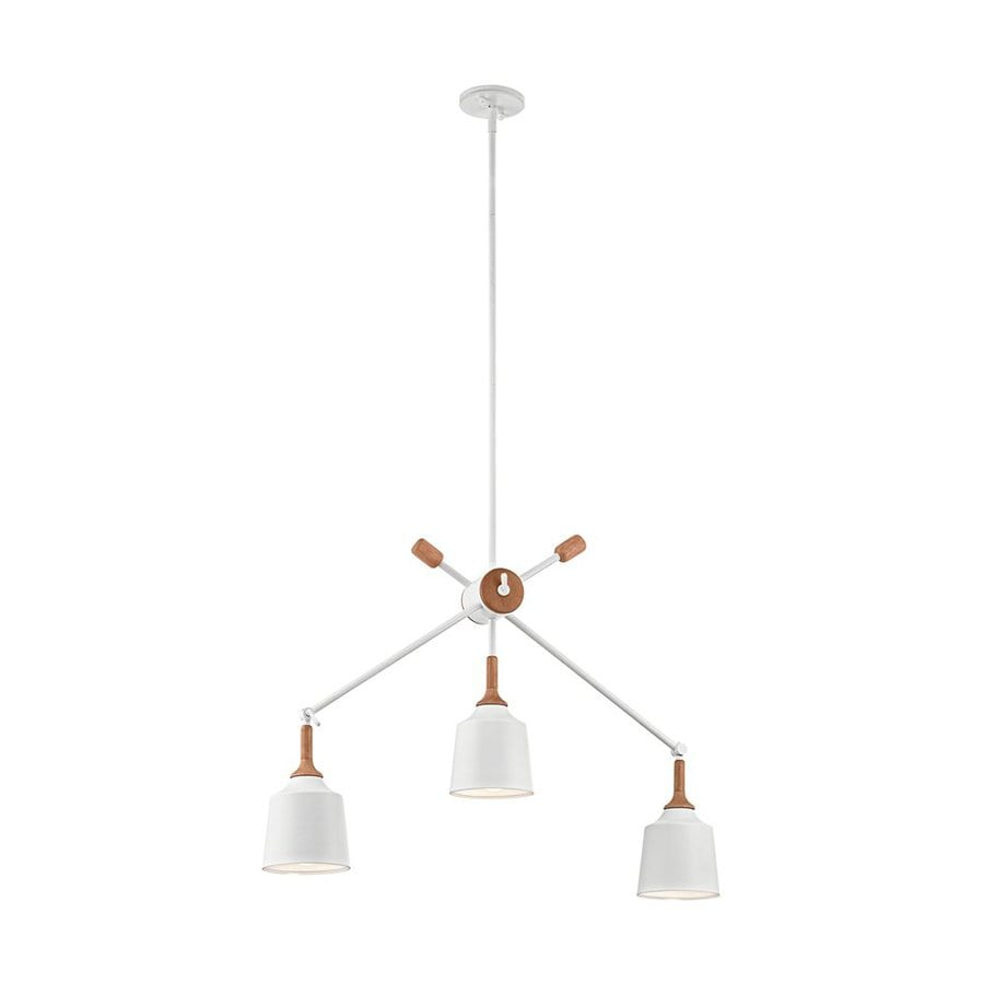 Kichler Danika 7.25-in 3-Light White Industrial Shaded Chandelier