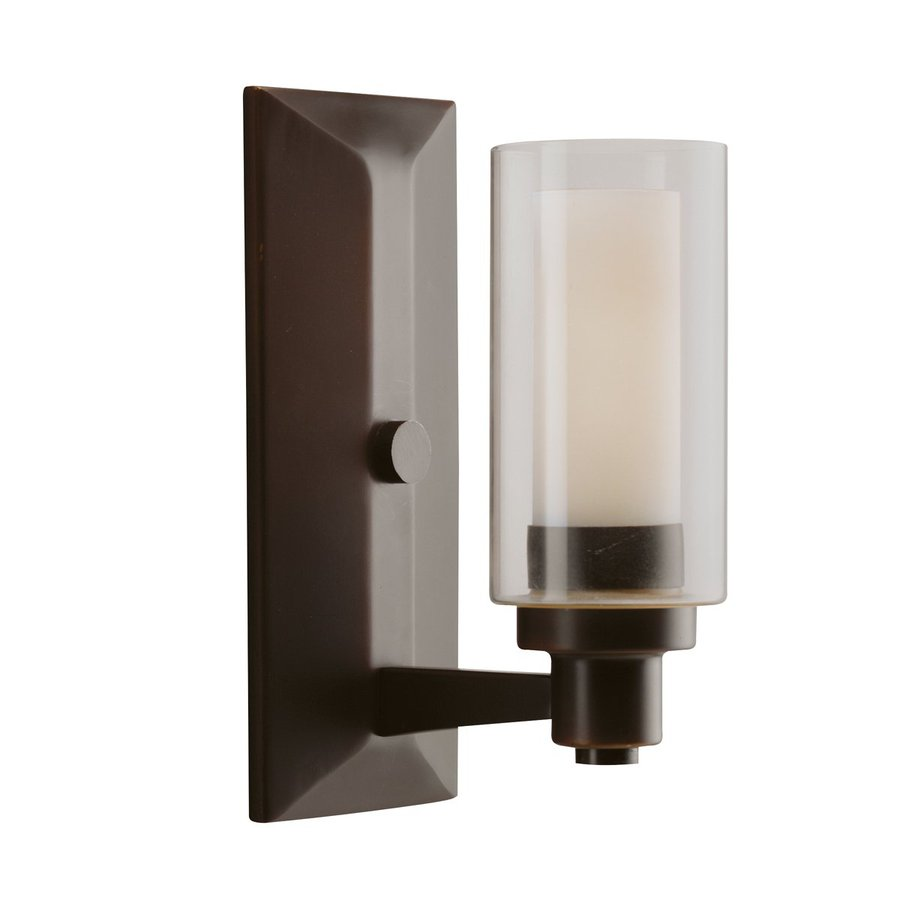 Kichler Lighting Circolo 1-Light Olde Bronze Cylinder Vanity Light