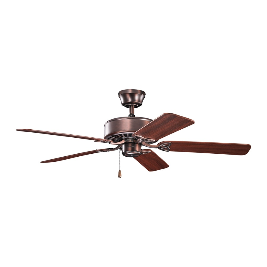 Kichler Renew ES 50-in Oil Brushed Bronze Indoor Downrod Or Close Mount Ceiling Fan