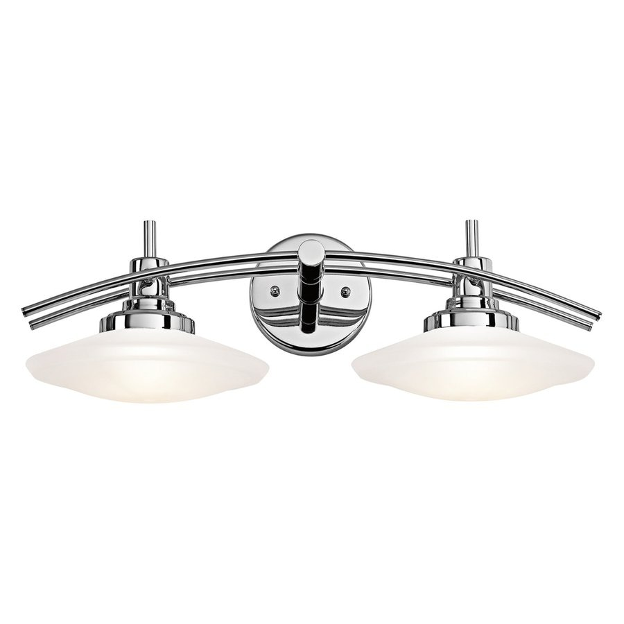 Kichler Structures 2-Light 7.5-in Chrome Geometric Vanity Light