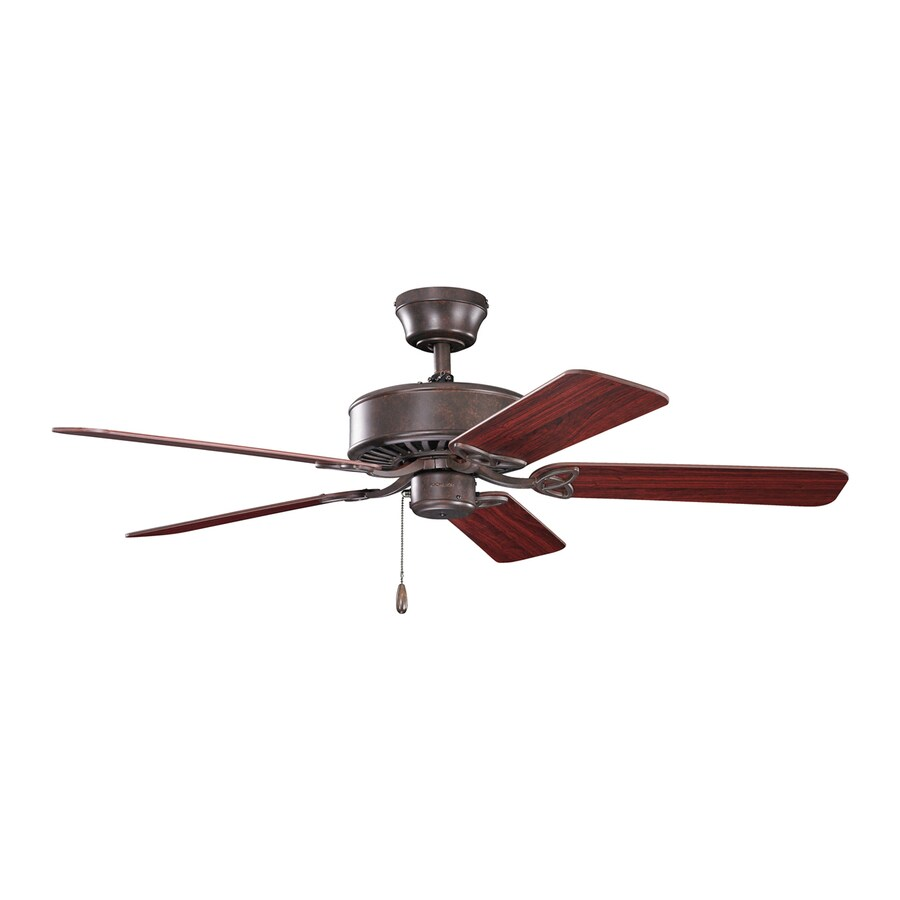 Kichler Lighting Renew Es 50-in Tannery Bronze Downrod or Close Mount Indoor Ceiling Fan (5-Blade) ENERGY STAR