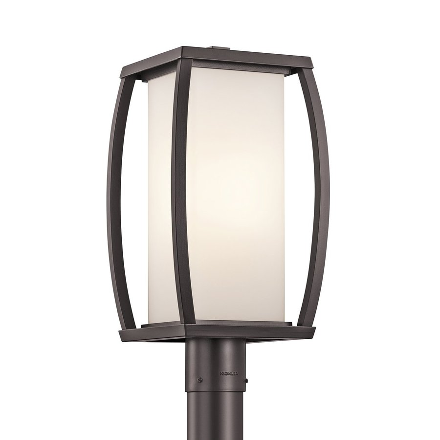 Kichler Bowen 18.5-in H Architectural Bronze Post Light