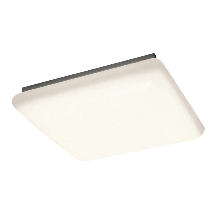 shop flush mount fluorescent lights at lowescom - kichler white acrylic flush mount fluorescent light (common ft actual